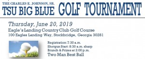 Charles E. Johnson, Sr. TSU Big Blue Golf Tournament 2019 @ Eagle's Landing Country Club Golf Course