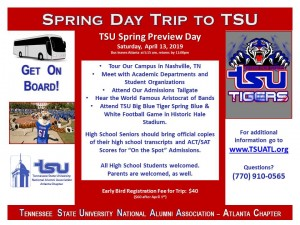 Campus Tour - Spring 2019 @ Tennessee State University  | Nashville | Tennessee | United States