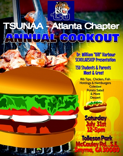 TSUNAA-Atlanta Chapter Cook Out 2021 @ Tollenson Park